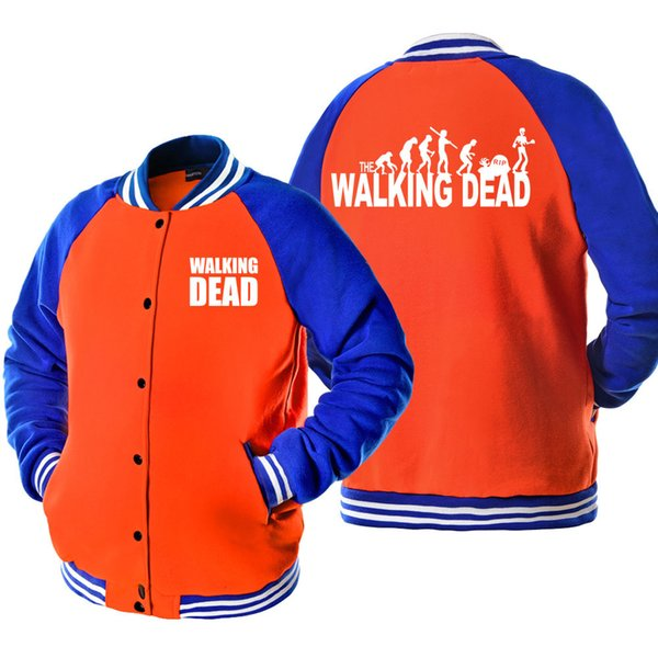 Teen Wolf Stilinski 24 walking Dead Hip Hop Print Bomber Jacket Coat Tracksuit 2019 Autumn Spring Men's Jacket Coat