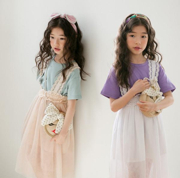 6228bcc8b41ea Çocuk giyim kız Takım elbise bebek etek Genç çocuk Yaz giyim 2019 yeni  ürünler güzel Toptan fiyatlar Çizgili kolsuz. 228.04 TL / Parça · Yeni  Gelenler