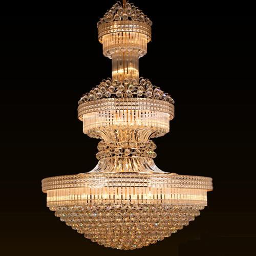 Crystal chandelier lights noble luxurious high end pendant lamp large American vintage style hotel project construction light factory price