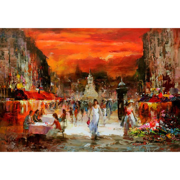 Art Gift Landscapes oil paintings City view by Willem Haenraets hand-painted picture for wall decor