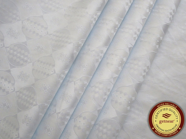 top popular High Quality White Bazin Riche,Germany Quality 10 Yards bag Guinea Brocade Garment Fabric 100% Cotton With Perfume Shadda 2021