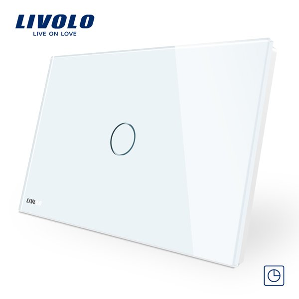 Livolo 30S Timer Delay Switch, AU/US Standard, Touch Switch ,White Crystal Glass Panel, Wall Light Control Switch