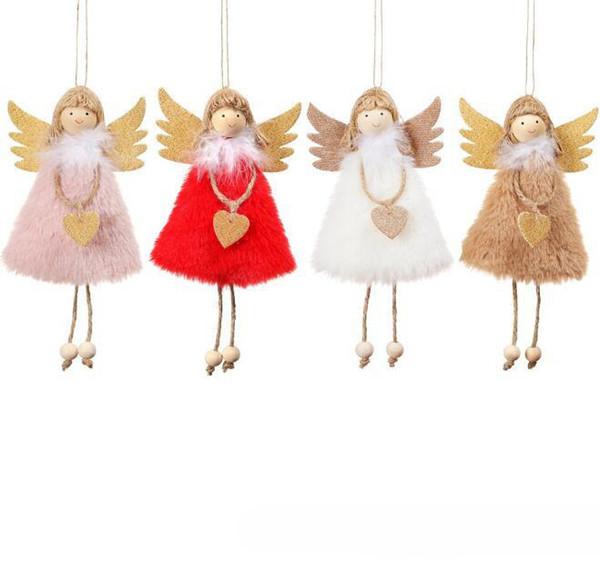 2020 Ano Novo Últimas Natal do anjo Dolls Xmas Tree Ornamento bonito Noel Decoração de Natal Deco para Home Navidad 2019 Kid presente