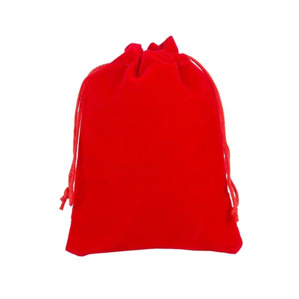 500 pcs 7x9 cm Vermelho Escuro Varejo Jóias Embalagem de Presente de Veludo Sacos de Cordão Bolsas, saco de Presente de Natal / Casamento
