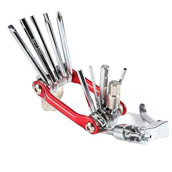 11 in 1 Bicycle Tools Maintenance Sets Mountain Bike Wrench Bicycle Multi Repair Tool Kit straight cross screwdriver cut chain tool opener