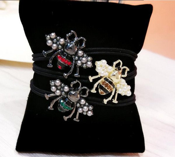 2019 Korean hair accessories headdress new alloy retro hair ring head rope hair rope animal bee personality wild rubber band mixed batch