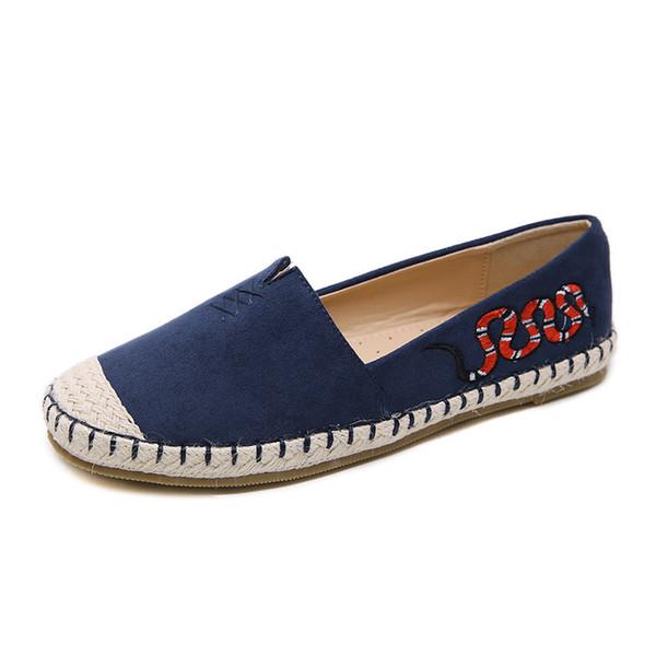 Femmes Slip On Flat pour la mode féminine Sneakers couleur unie Mocassins Espadrilles Confort Conduite Chaussures de vacances