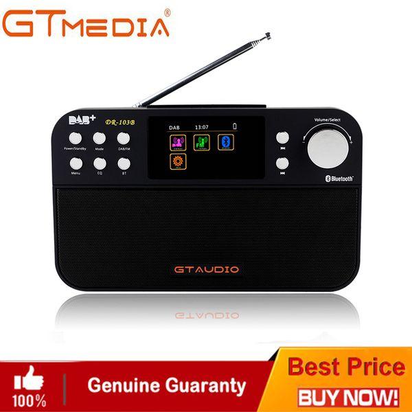 Professional Black GTMedia DR-103B Digital FM Radio DAB+Radio Stero For UK EU With Bluetooth Built-in Loudspeaker Color screen