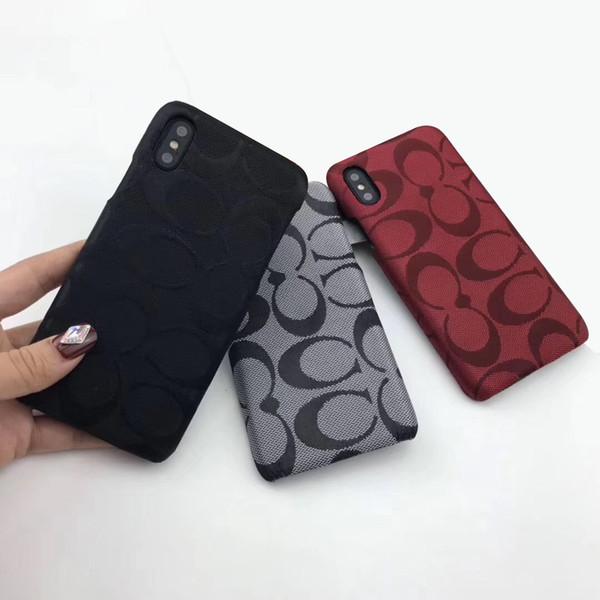 Lüks Telefon Kılıfı Ile Ünlü Baskı Iphone XS XR Xs Max 7 8 Artı PU Deri Marka Arka Kapak Koruyun