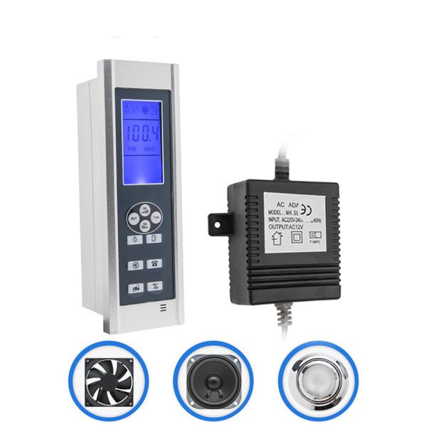 1set Include ( Controller+Transformer+Vent Fan+Speaker+led Light) LCD Display Shower Control Panel AC 12V FM Radio Shower Controller Kit