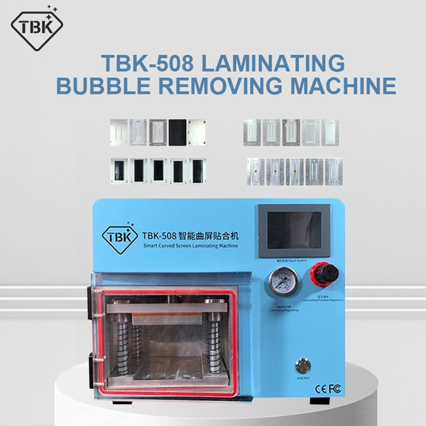best selling TBK-508 5 in 1 Smart Curved LCD ScreenVacuum Laminating Machine for Sumsung S10 S1+ S8 S9 S9+ Edge LCD OCA Repair bubble remover