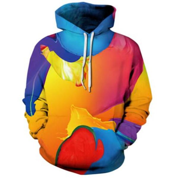 Oil Paiting 3D Print Creative Character Sweatshirt Hoodies Hip Hop Street Tops Pullovers Long Sleeve Tracksuits Fashion Cheap Clothing 5XL