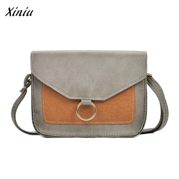 Xiniu Quality fashion women bag hit color leather crossbody bags mini messenger shoulder bag clutch casual totes flap bolsas
