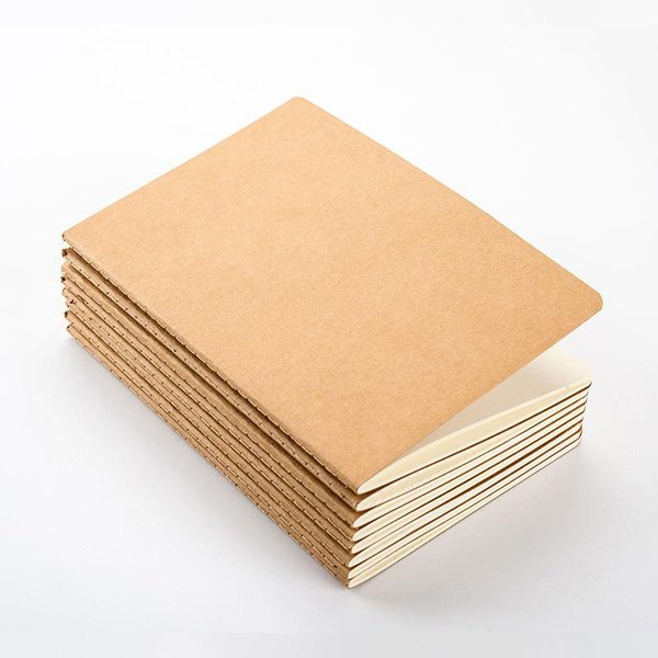 top popular wholesale 8.8X15.5CM paper notebook blank notepad book vintage soft copybook daily memos Kraft cover journal notebooks notepad 2020
