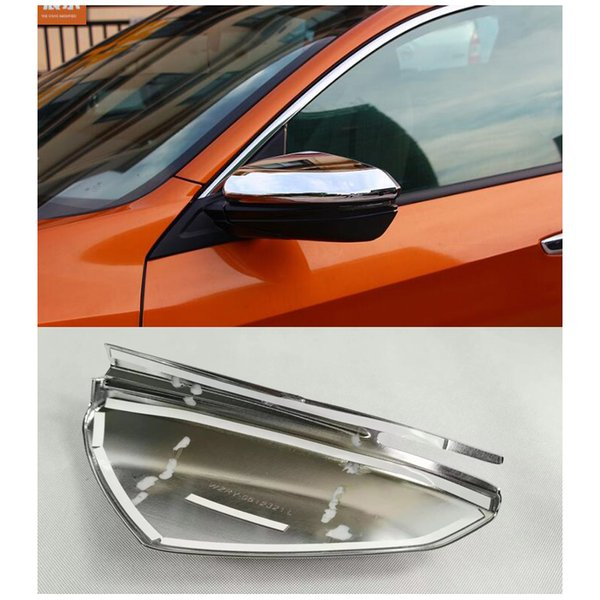 ABS хром боковое зеркало заднего вида крышка отделка для Honda Civic 2016-2017