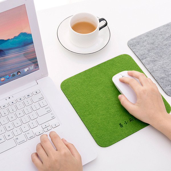 Non-skid Simplicity and fashion Felt Mouse Pad Square Gaming Mousepad Comfort Square Mice Mat for Calculator mouse pad