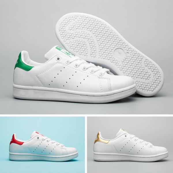 2019 Summer Fashion smith Sneakers femmes hommes Chaussures de sport en cuir sport classique Top qualité Femme Chaussures Plates Lovers Sapatos Femininos chaussures