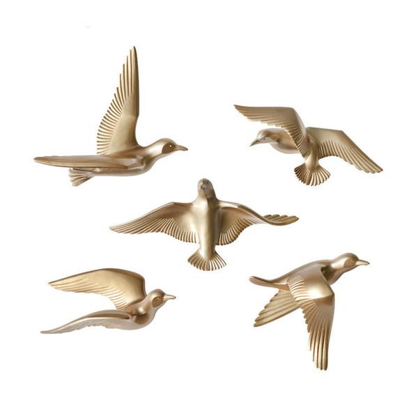 Criativo 3D Resina pássaro Decoração de Casa decoração adesivos de parede decoração Mobiliário A pomba da paz para a mascote europeia