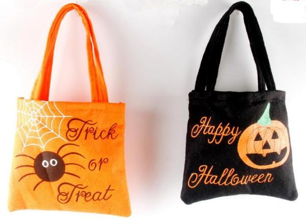Новый Хэллоуин корзины холст мешок конфеты ведро печататься партия декор реквизита мешки тыквенные сумочек Хранение детей 2 цвета