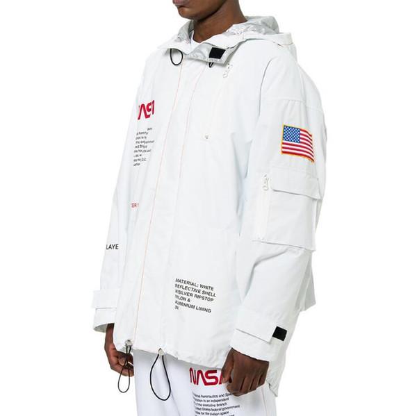 HERON PRESTON NASA High Tech Streetwear Parka Hommes Femmes Loose Fashion Marque Vestes Manteaux Mens Lettre Imprimer Coupe-Vent Vêtements de Dessus