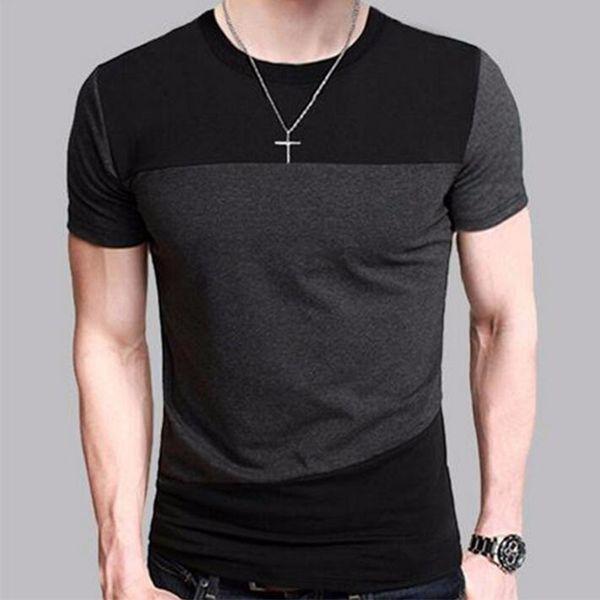 Brand 2018 Male Short Sleeve T Shirt O-Neck Men T-Shirt Hip-Hop Simple splicing Tee Tops Shirt Homme T Shirts 3XL