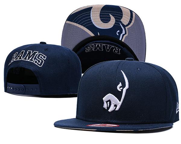 NEW Men's Rams Fan's Adjustable Cap Fashion Brand Hip Hop Golf Visor Women Snapback Hats Men Women Curved bill Street Bone