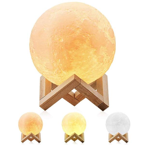 YIDIMU Moon Lamp, Impression 3D LED Night Light Lunaire Moon Light Noël festival de halloween cadeaux pour ami enfant