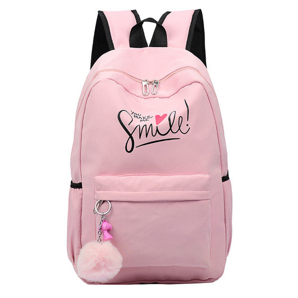 2019 New Style Hot Sale Women Backpacks Lady Rucksack Fashion Pink large capacity School Bags Computer Laptop travel Girls Shoulder Backpack