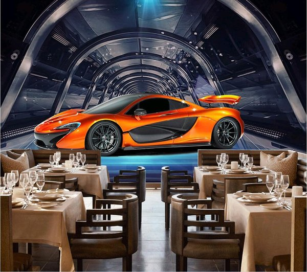 WDBH custom photo 3d wallpaper Metal texture technology sports car tooling room home decor 3d wall murals wallpaper for walls 3 d living ro