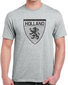 439 t-shirt dos homens da Holanda país holandês bandeira leão futbol uniforme de rugby Printope novo