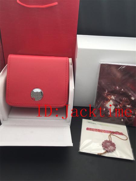 La mejor calidad del reloj Caja original Papeles Cajas de cuero Bolso para Planet Ocean Coaxial Skyfall James Bond 007 CAL.8500 8900 Cajas de relojes