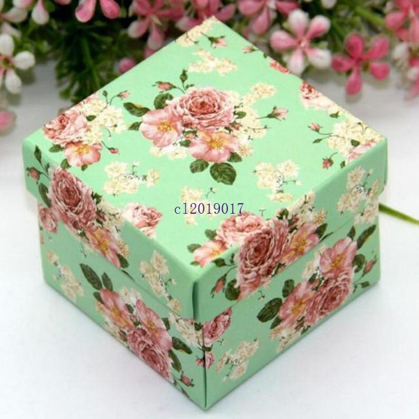 Korean Style Floral Print Candy Packing Box For Birthday Wedding Candy Supplier