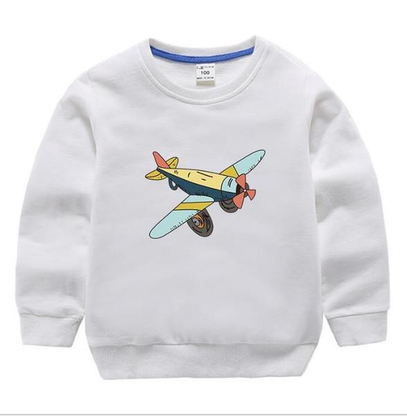 2019 Primavera y otoño Nueva ropa para niños Moda para la niña Tiempo de ocio Incluso Gorra Tejer Suéter colores de dibujos animados niños con capucha bebé paño