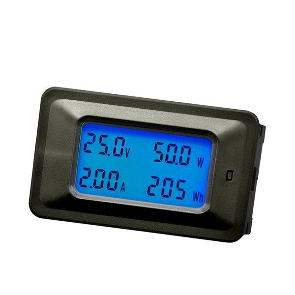 4 Em 1 Medidor de Corrente Digital Voltímetro Amperímetro Tester Medidor de Energia de Potência Medidor de Volt Display LCD Sobrecarga de Alarme 8 to100V