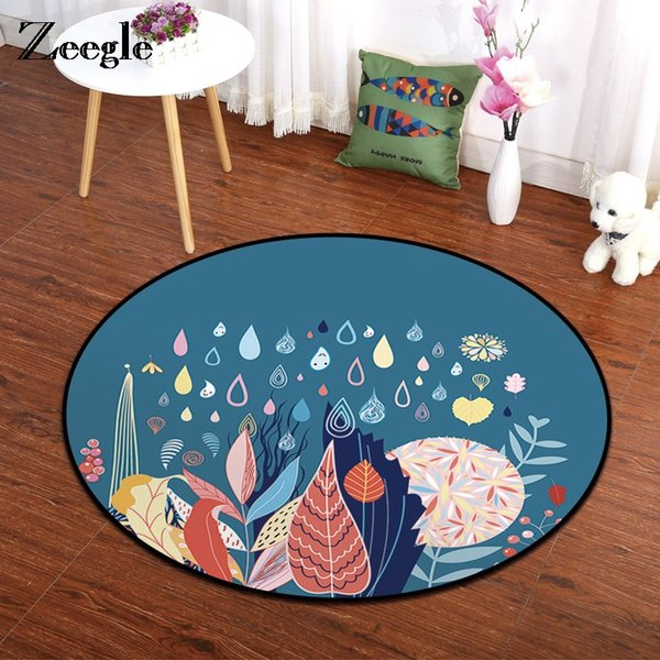 Grosshandel Zeegle Runder Teppich Cartoon Bodenmatte Kid Schlafzimmer Teppich Fur Wohnzimmer Rutschfeste Kuche Burostuhl Bereich Teppich Von Hobarte