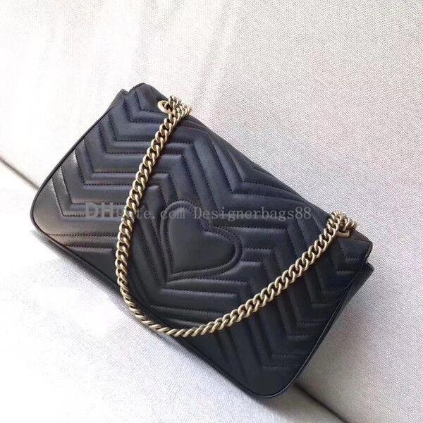 Модный дизайнер Сумка через плечо Цепная сумочка XXL Jumbo Love heart V Wave Pattern Сумка через плечо Кошелек Lady Shopping Tote сумки