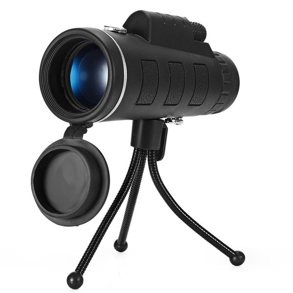 1 pcs 40x60 hd zoom lens waterproof monocular telescope with tripod clip camping hunting hiking outdoor tool for mobile phones thumbnail