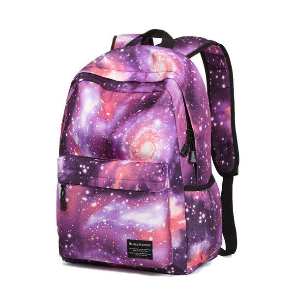 good quality Waterproo Nylon Women Men Unisex Backpack Fashion Printing Space Galaxy Star Rucksacks School Laptop Bags Travel Bags Sac