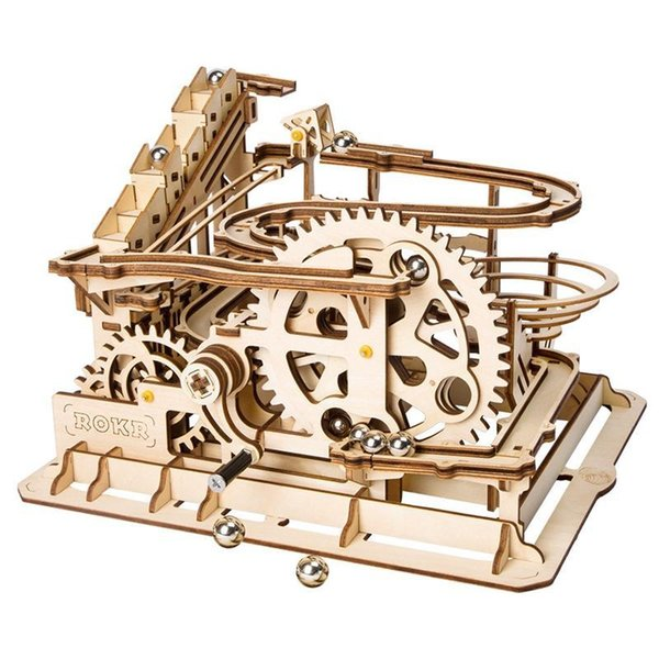 top popular Robotime 4 Kinds Marble Run Game DIY Wooden Model Building Kits Assembly Toy for Children Birthday Gifts 2020