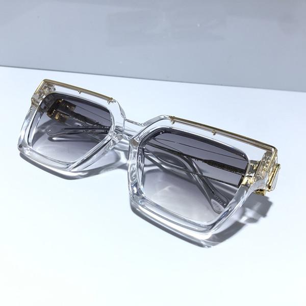 transparente ouro Gradiente lente cinza