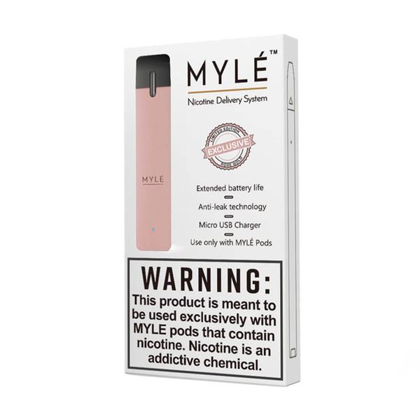 Système de distribution Myle SaltsNic - Kit de démarrage pour cartouches de gouttes de gouttes 0,9 ml - 240mAh avec dispositif de vaporisation portable
