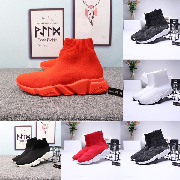 socks Unisex Casual Shoes Fashion Triple S Socks Boots Woman New Slip-on Elastic Cloth Speed Trainer Runner Man Shoes Outdoors size 36-45
