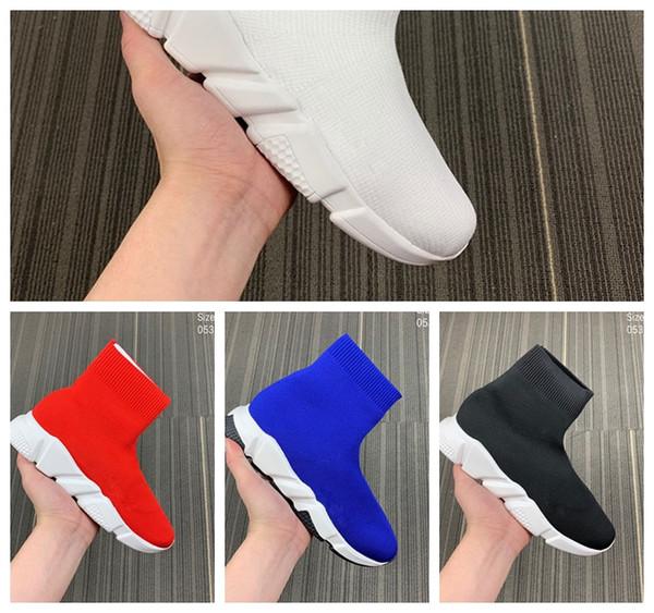 Lüks Çorap Ayakkabı Rahat Ayakkabı Hız Eğitmen Yüksek Kaliteli Sneakers Hız Eğitmen Çorap Yarış Koşucular siyah Ayakkabı erkekler ve kadınlar Lüks Ayakkabı M6
