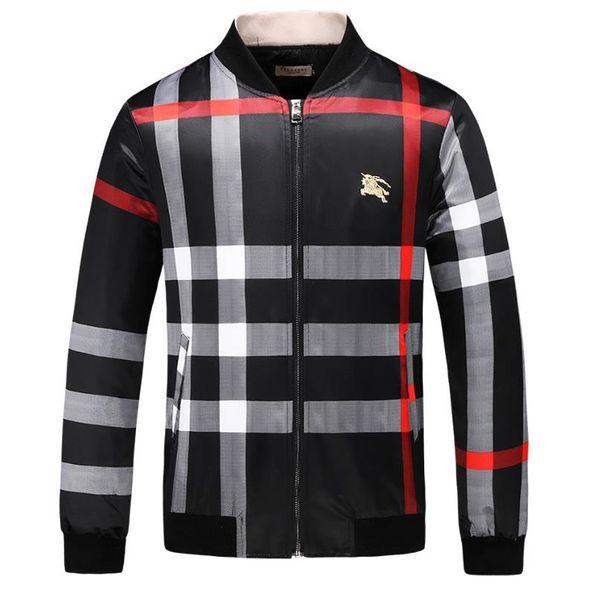 BBurberry 2019 primavera nuova giacca maschile da uomo casual cross country giacca da lavoro sottile giacca a vento in cotone spedizione gratuita # 001