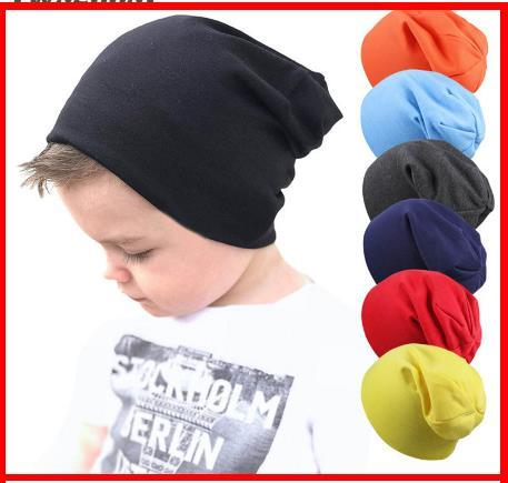 2019 New Baby Street Dance Hip Hop Hat Spring Autumn Baby Hat Scarf for Boys Girls Knitted Cap Winter Warm Solid Color Children Hat