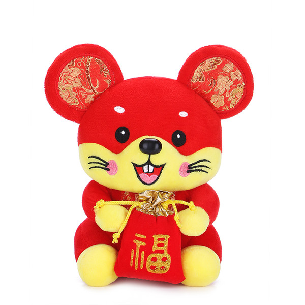 2019 2020 New Year Gifts Plush Dolls Chinese New Year Zodiac Animal Mascot  Toys Stuffed Animal Red From Smilesky1, $7 39 | DHgate Com