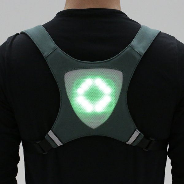lixada rechargeable reflective vest backpack with turn signal light remote control outdoor sport safety bag gear for cycling