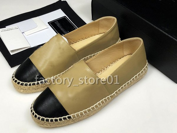 2019 Classic Summer Sandals Luxury Espadrilles Fisherman Shoes Low Heel Leather Leisure Designer Shoes Sneakers Many Color Size 35-41