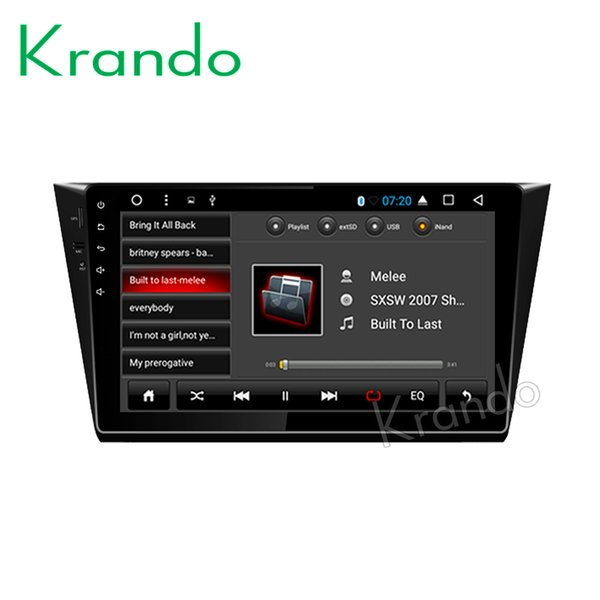 """Krando Android 8.1 10.1"""" Big Screen Full touch car dvd Multimedia system radio player for VW BORA 2016 player gps BT wifi"""