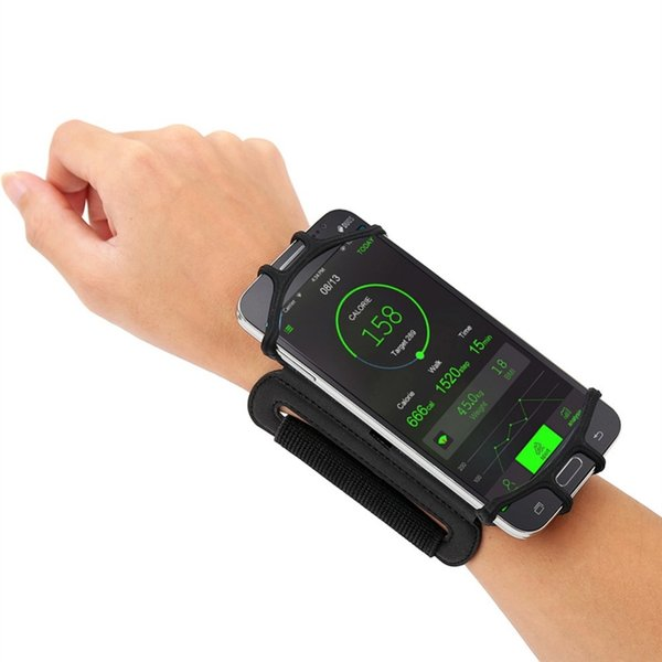 4-5.5in Running Phone Wristband 180 degree Rotatable Running Bag Belt Wrist Strap Jogging Cycling Gym Arm Band Bag for iPhone #29225